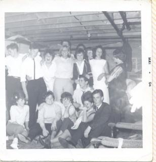 A picture from the 1964 Kenogami Protestant High School graduation party at the Lovelace household