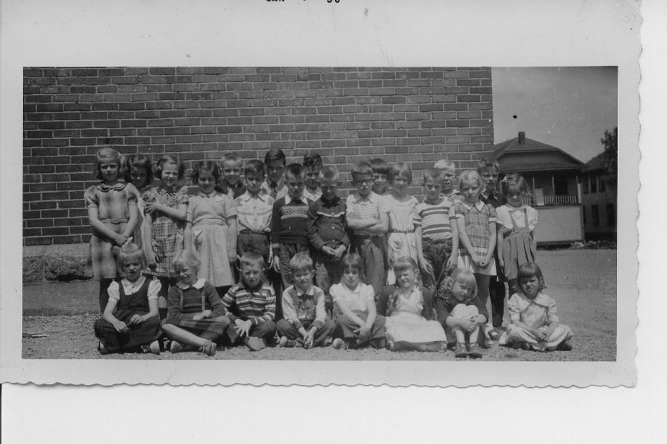 Kenogami Protestant High School's grade one and two class from the early 1950s